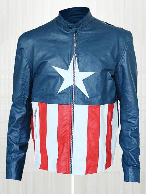 Jon Bon Jovi Concert Captain America Leather Jacket