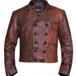 Justice League Aquaman Distressed Leather Jacket