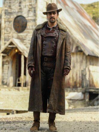 Lee Scoresby His Dark Materials Brown Leather Coat