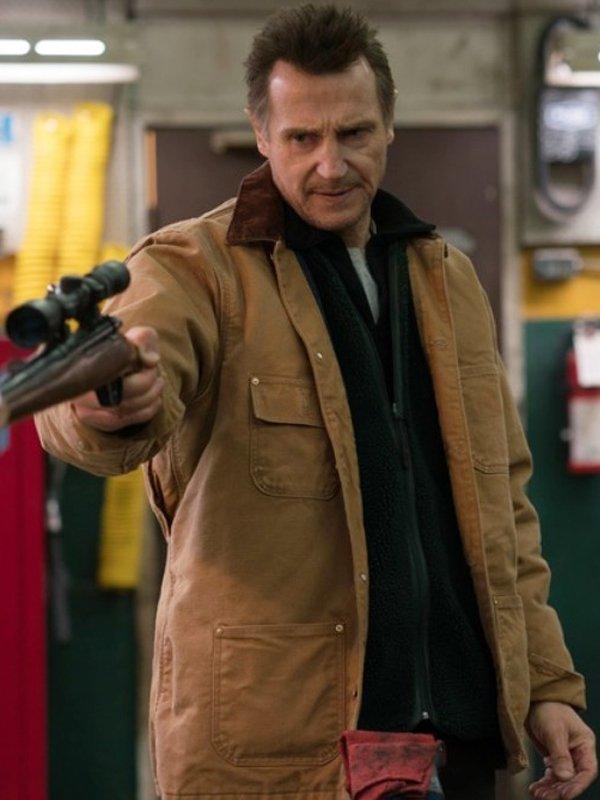Liam Neeson Cold Pursuit Brown Jacket