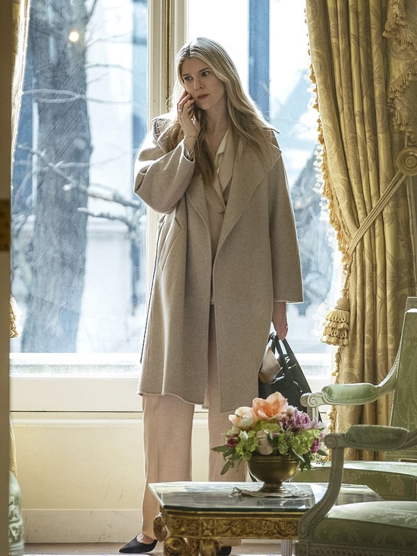 Lily Rabe The Undoing Beige Coat