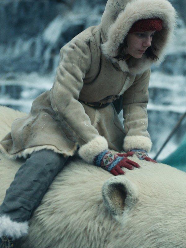 Lyra Belacqua His Dark Materials Leather Shearling Coat