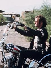 Peter Fonda Easy Rider US Flag Leather Jacket