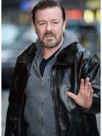 Ricky Gervais After Life Leather Jacket
