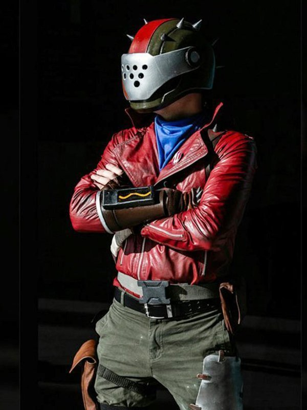 Rust Lord Fortnite Red Biker Jacket