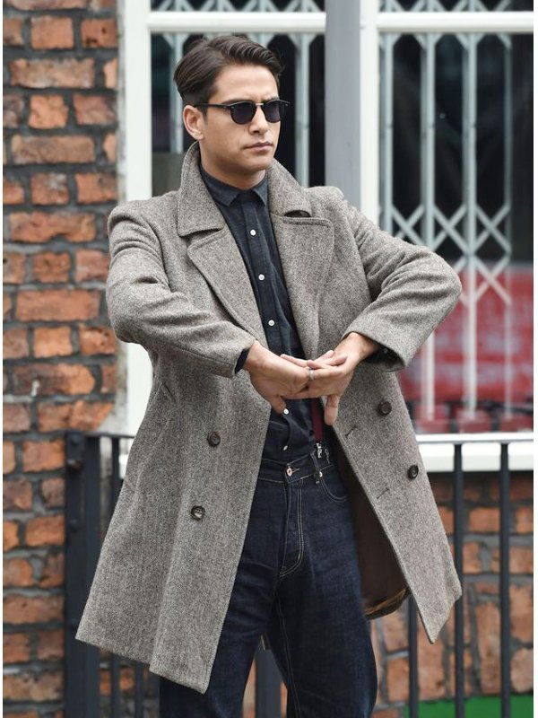 Snatch Luke Pasqualino Grey Coat
