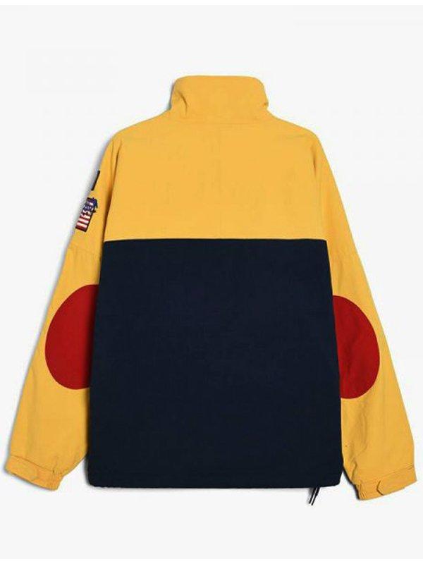 The Hip Hop Snow Beach Black & Yellow Cotton Jacket