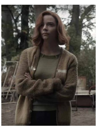 The Queen's Gambit Anya Taylor Joy Brown Sweater