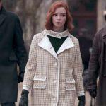 The Queen's Gambit Beth Harmon Checkered Coat