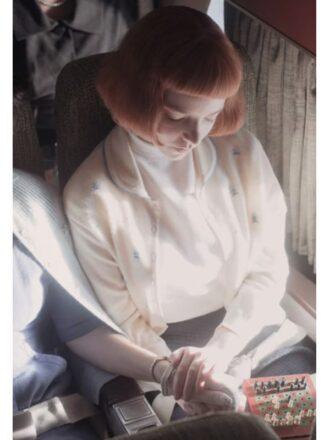 The Queen's Gambit Beth Harmon White Cardigan