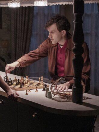 The Queen's Gambit Harry Beltik Brown Leather Jacket