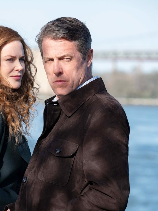 The Undoing Hugh Grant Brown Suede Leather Jacket