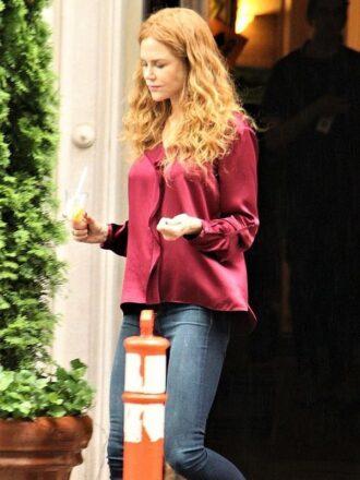 The Undoing Nicole Kidman Maroon Shirt