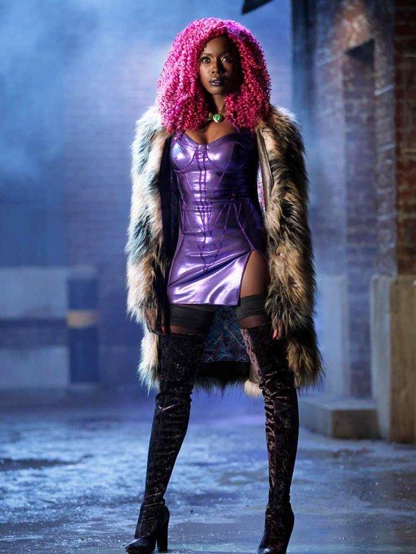 Titans Starfire Fur Coat