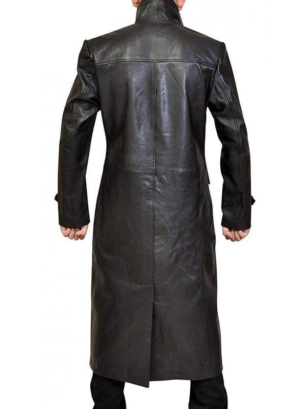Tom Welling Smallville Superman Clark Kent Black Leather Trench Coat