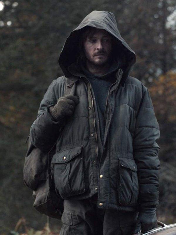 Tv Series Dark Andreas Pietschmann Black Puffer Hooded Jacket