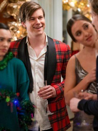 Tv Series Dash & Lily Glenn McCuen Red Checkered Tuxedo Jacket