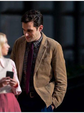 Tv Series Gossip Girl Adam Chanler-Berat Brown Corduroy Blazer