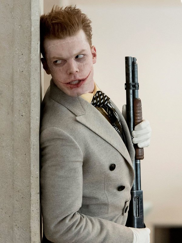 Tv Series Gotham Cameron Monaghan White Wool Trench Coat