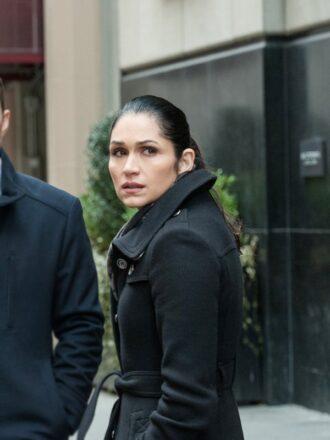 Tv Series Power S02 Lela Loren Black Wool Coat