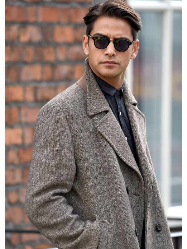 Tv Series Snatch Albert Hill Grey Wool Coat