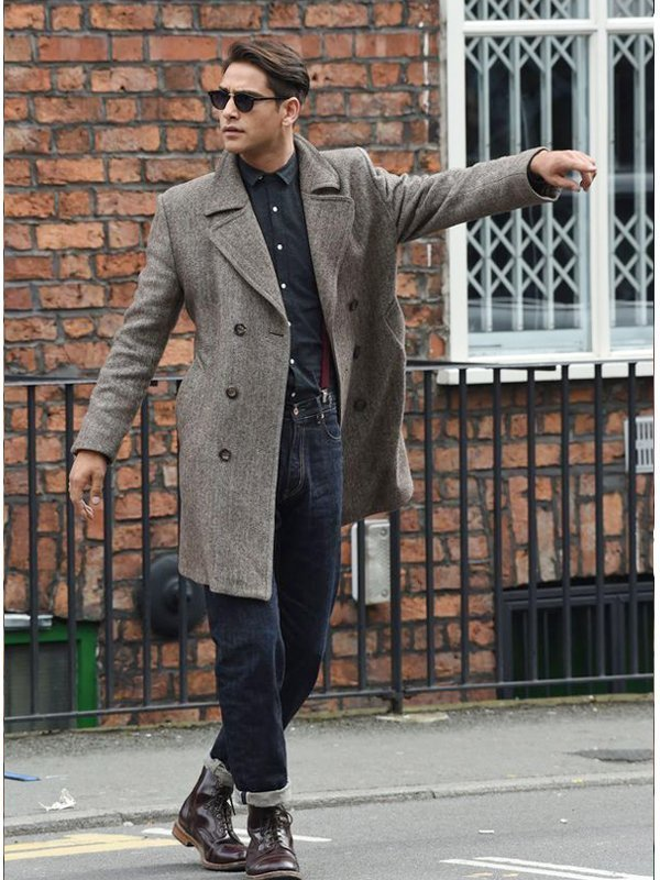 Tv Series Snatch Albert Hill Wool Coat