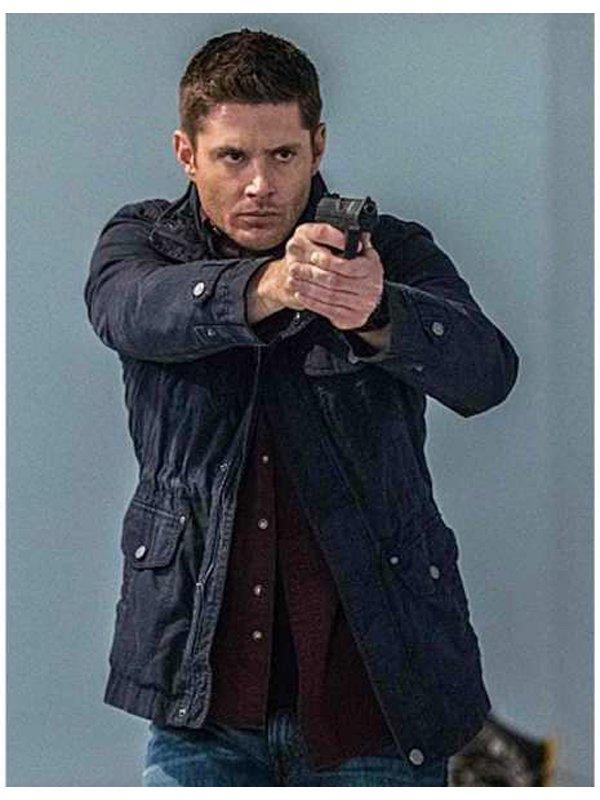 Tv Series Supernatural Jensen Ackles Cotton Blue Jacket