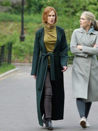 Tv Series The Undoing Grace Fraser Green Long Wool Coat