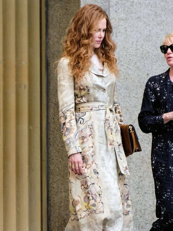 Tv Series The Undoing Grace Fraser Printed Floral Coat