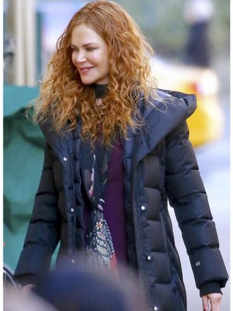 Tv Series The Undoing Grace Sachs Black Hooded Puffer Coat