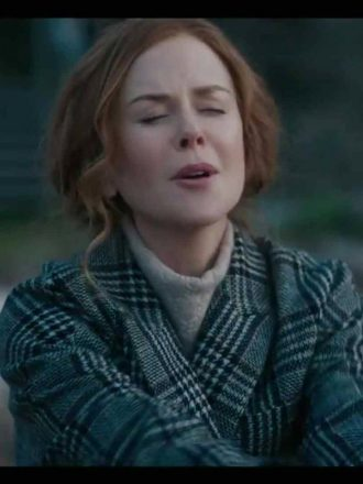 Tv Series The Undoing Grace Sachs Checked Wool Coat