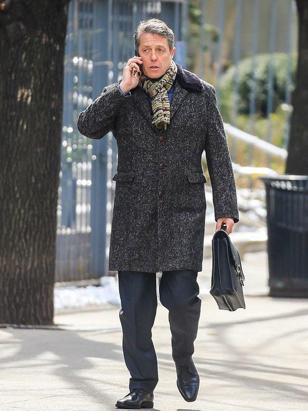 Tv Series The Undoing Jonathan Sachs Grey Wool Coat
