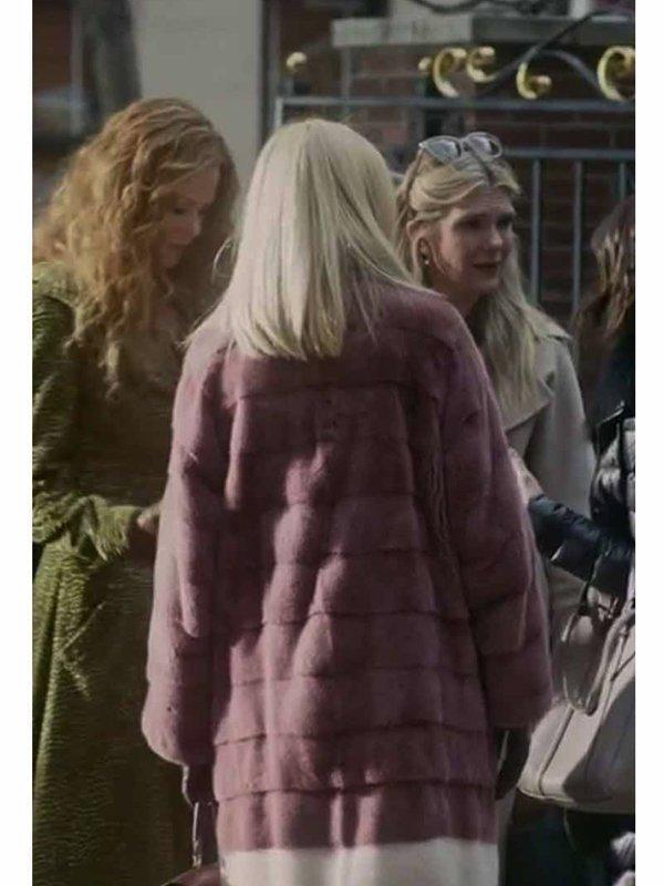 Tv Series The Undoing Sally Morrison Pink Fur Coat