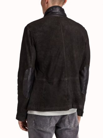 Tv Series Titans Brenton Thwaites Black Suede Leather Blazer