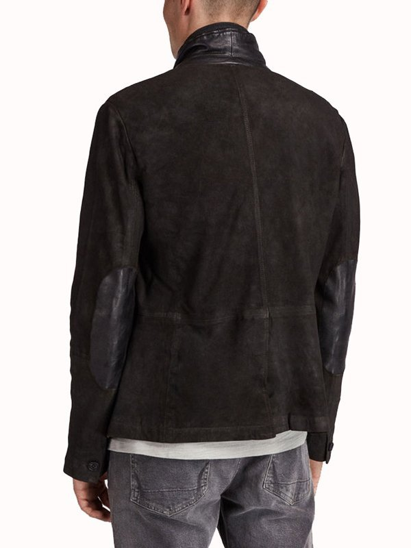 Tv Series Titans Brenton Thwaites Black Suede Leather Blazer