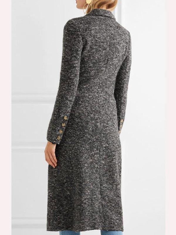 Tv Series You S02 Elizabeth Lail Grey Wool Coat