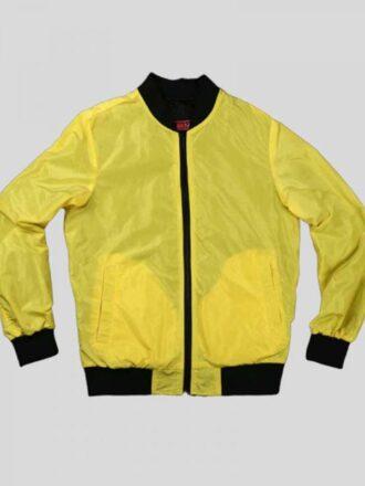 Video Game Cyberpunk 2077 Samurai V Yellow Bomber Jacket