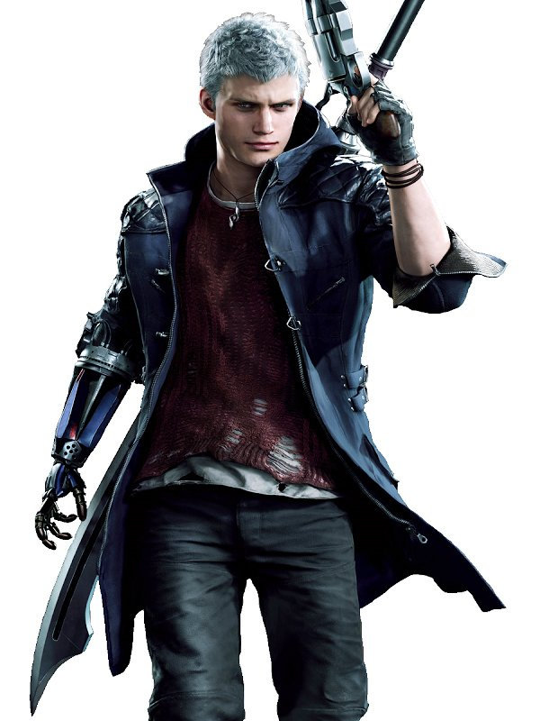 Video Game Devil May Cry 5 Nero Blue Hooded Coat