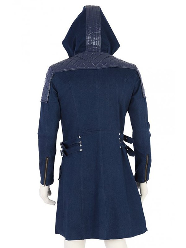 Video Game Devil May Cry 5 Nero Blue Trench Hooded Coat
