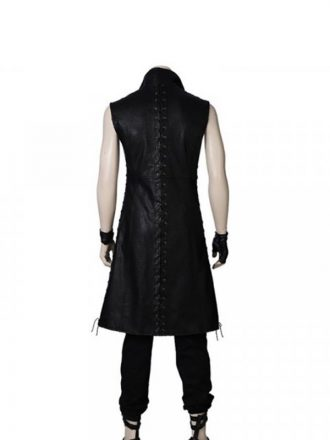 Video Game Devil May Cry 5 V Mysterious Man Black Leather Trench Coat
