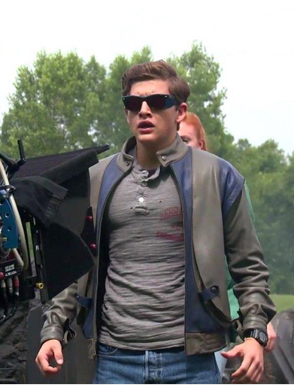 X-Men Apocolypse Tye Sheridan Cafe Racer Leather Jacket