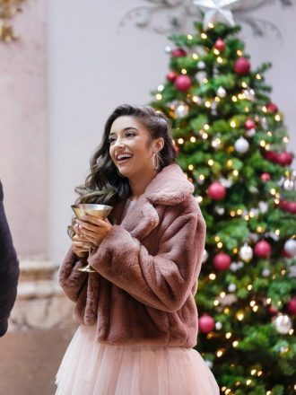 12 Dates of Christmas Faith Fernandez Fur Jacket