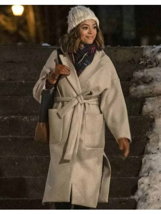 Amber Stevens Christmas Unwrapped Charity Jones Wool Trench Coat