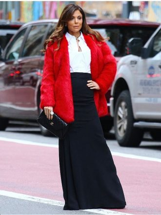 Bethenny Frankel New York City Fur Coat