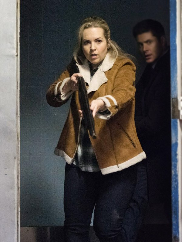 Briana Buckmaster Supernatural Brown Brown Suede Leather Jacket