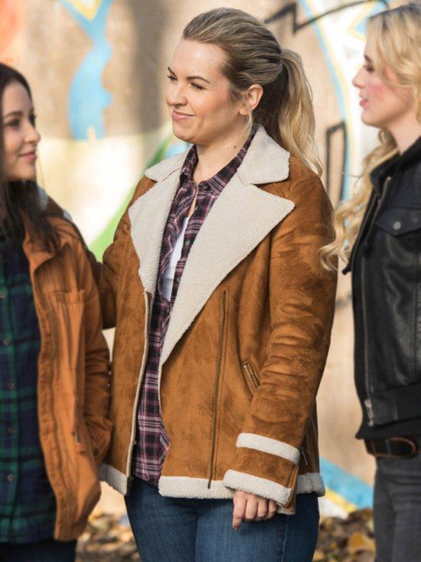 Briana Buckmaster Supernatural Donna Hanscum Brown Shearling Leather Jacket