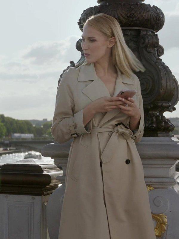 Camille Razat Emily in Paris Cotton Coat