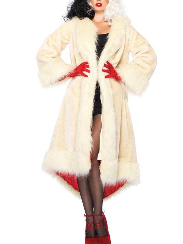 Cruella Emma Stone Faux Fur Coat