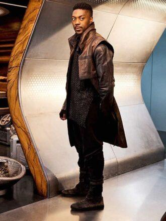 David Ajala Star Trek Discovery S03 Cleveland Booker Leather Coat