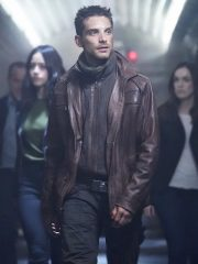 Deke Shaw Agents Of S.H.I.E.L.D Jeff Ward Leather Brown Jacket